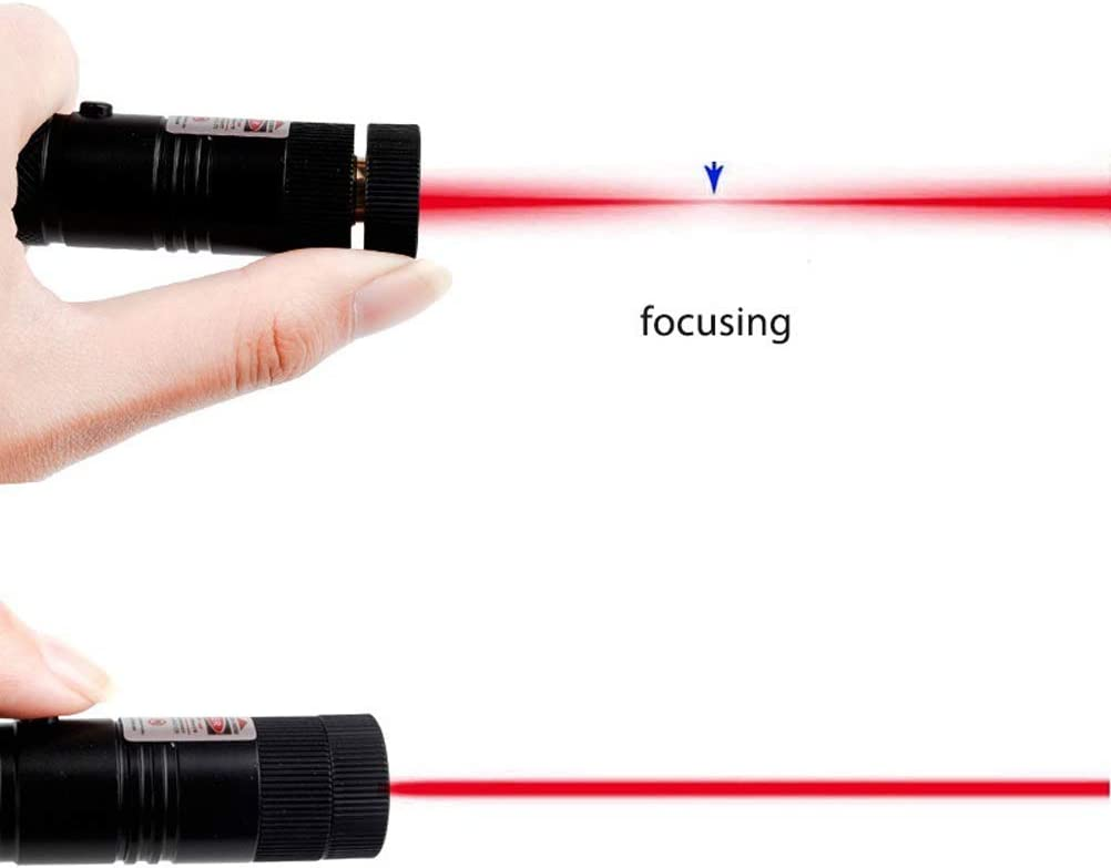 CJSM Powerful Tactical Pen,Adjustable Focus LED Flashlight,Suitable for Camping and Hiking,Red