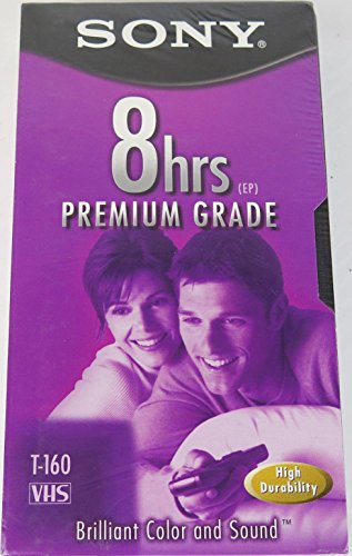 Sony T-160 Premium Grade VHS Tapes - 10 Pack by Sony
