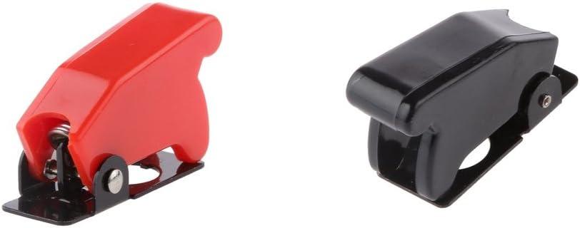 B Baosity 2X LED Auto Voiture Bascule Basculer Interrupteur /à Bascule sur//Capot Couvercle Proctector