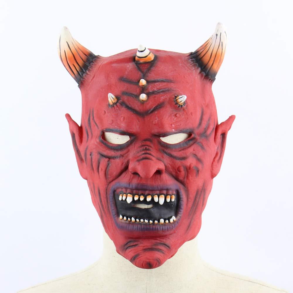 Circlefly Maschera diavolo di corno di toro rosso le prestazioni di ballo americana di Halloween props horror diverdeente maschera