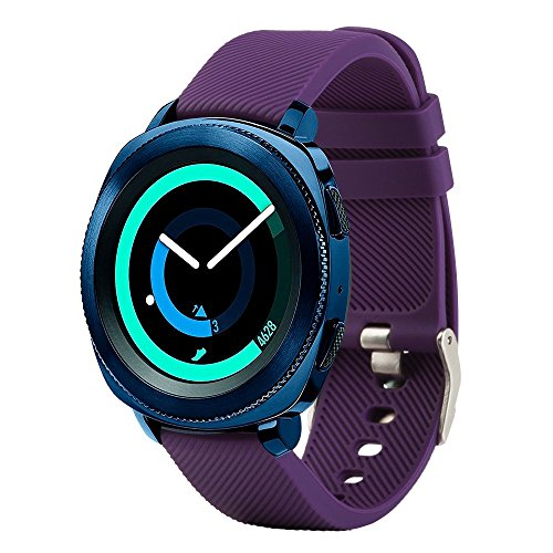 Bracelet de rechange Fit-power pour montre connectée - 20 mm Pour montres Samsung Gear Sport / Samsung Gear S2 Classic / Huawei Watch 2 / Garmin Vivoactive ...