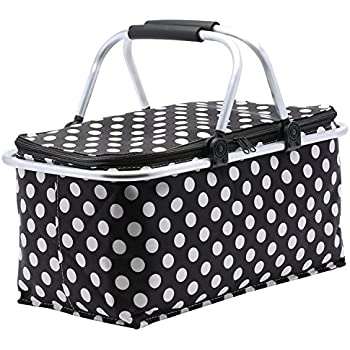 insulated picnic basket insulated folding picnic basket insulated 12080