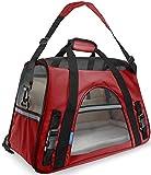 Oxgord Transportadora para Mascotas aprobada por AerolineasMediana, Rojo