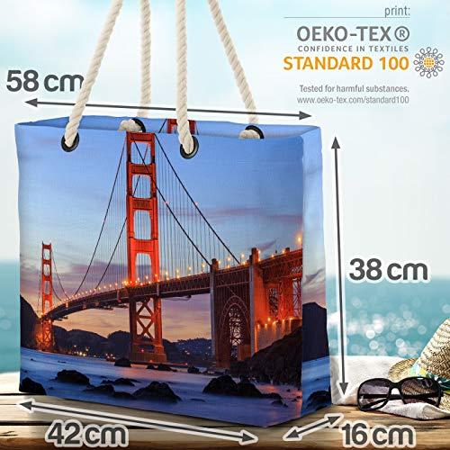 VOID Golden Gate Bridge strandväska Shopper 58 x 38 x 16 cm 23 L XXL shoppingväska väska resväska Beach Bag