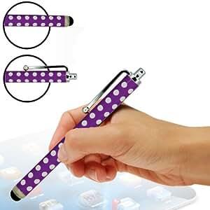 Fone-Case Nokia Lumia 620 Polka Aluminium Capacitive Stylus Touch Pen (Purple)