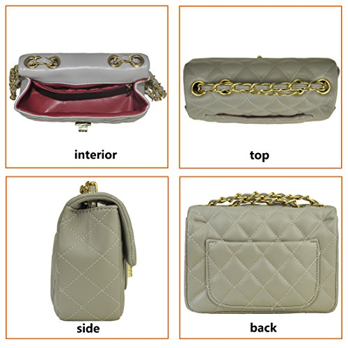 and Grey Girls Women Volcanic Handbags Clutch Bag Crossbody Chain Designer with Purse Rock Side Shoulder Quilted CfCw8Bnq