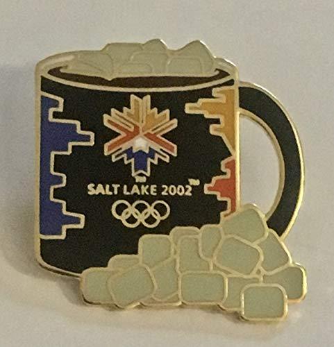 2002 Salt Lake City Winter Olympics Logo Hot Chocolate Marshmallow Mug Pin