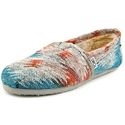 TOMS Womens Classics Grey and Red Friday Wool 10003631 6