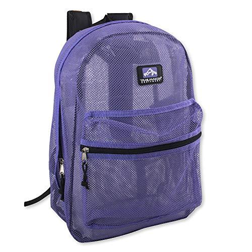 Trailmaker Mesh Backpack Assorted Colors 17' (Lavender/ Purple)