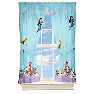 Disney Fairies Tinkerbell Butterfly Glow 4pc Curtains Set