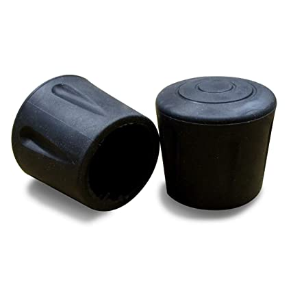 ajile Round Rubber Ferrule Bush Tip Shoes for Chair Tubular Furniture and Walking Stick (Black, 16mm) - Set of 4 Pieces