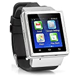 Android Ultra-SmartWatch Black Case, Black Strap : SmartWatch with Quad-Band GSM Bluetooth