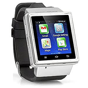 Amazon.com : Android Ultra-SmartWatch (Black Case, Black ...