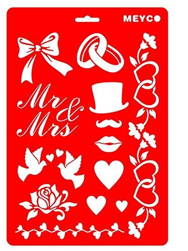 Schablone Hochzeit Meyco