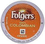 Folgers 100% Colombian Coffee, Medium-Dark Roast, K Cup Pods for Keurig K Cup Brewers, 12-Count (Pack of 6)