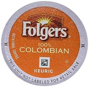 Folgers 100% Colombian Coffee, Medium-Dark Roast, K-Cup Pods for Keurig K-Cup Brewers, 12-Count (Pack of 6)