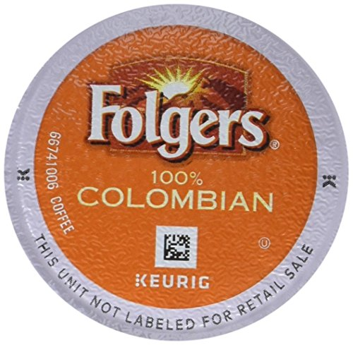 - Folgers 100% Colombian Coffee, Medium-Dark Roast, K Cup Pods for Keurig K Cup Brewers, 12-Count (Pack of 6)