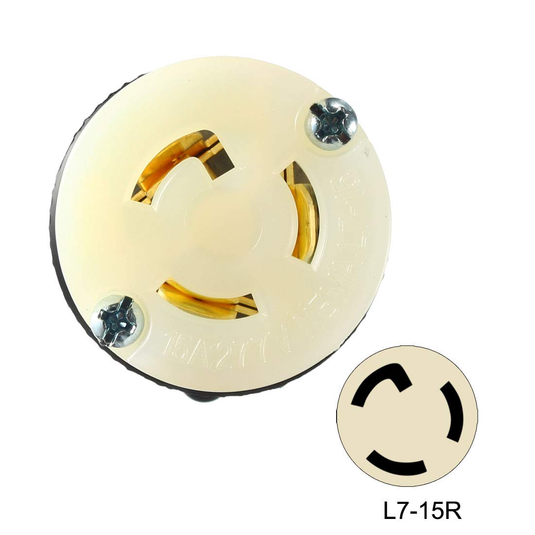 uxcell/® Locking Receptacle Female NEMA L17-30R 30A 600VAC 3 Pole 4 Wire Grounding Industrial Grade