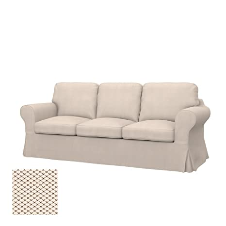 Soferia - Replacement Cover for IKEA EKTORP 3-seat Sofa, Nordic Creme