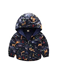 PAUBOLI Toddler Boy Windbreaker Lightweight Jacket Spring Coats 1-5T