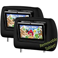 Smartlogic Removeable Android Tablet Black Universal Headrests (Pair)