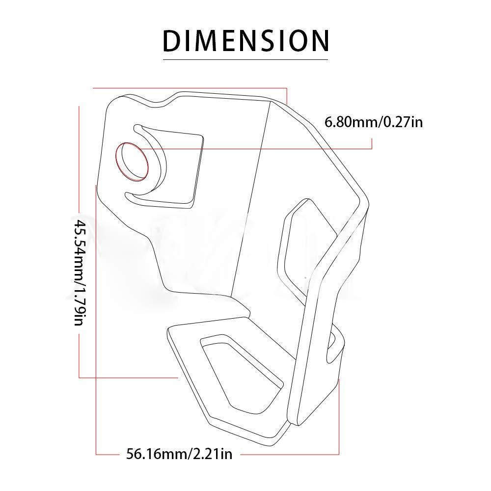 Pompa freno posteriore del motociclo Serbatoio fluido Serbatoio Coperchio di protezione per BMW F800GS F700GS 2013-2018 Nero LanLan Accessori per moto