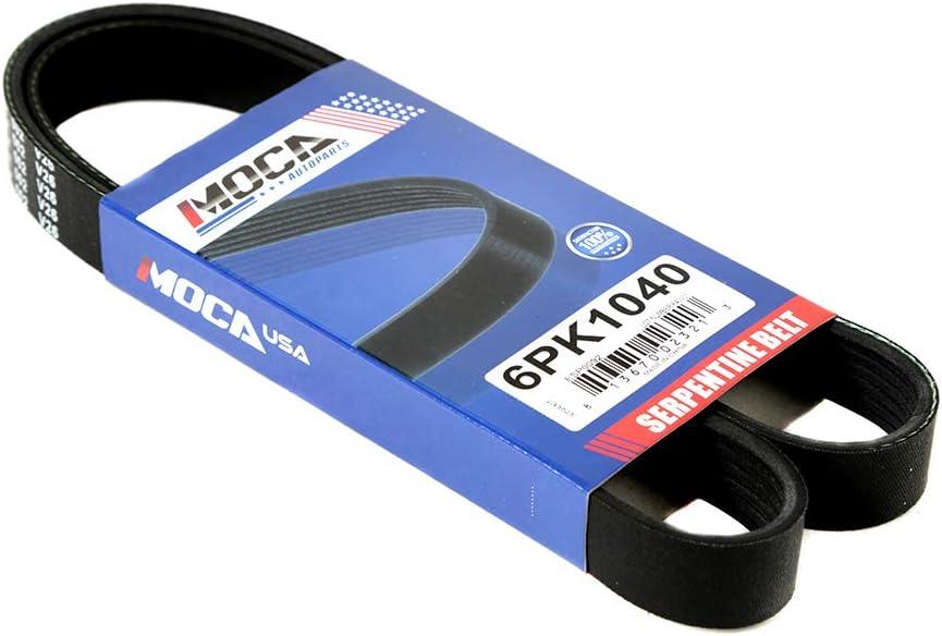 MOCA EPDM 6PK1040 Belt Compatible with 05-06 Lexus ES300 3.3L V6 /& 95//97-01 Honda Prelude 2.2L l4 /& 04-06 Toyota Camry 3.0L 3.3L V6 /& 97-98 Volkswagen Jetta 1.9L L4