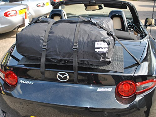 Mazda Miata ND/2016 Trunk Luggage Rack : Innovative Waterproof Luggage Bag Straps to Miata Trunk Lid. Sits on Soft Mat to Protect Paint. Hand Made in England Since 2008 (Mazda Miata Trunk)