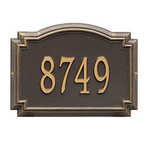 Customized 1 Line Williamsburg WALL Aluminum Address Plaque 14