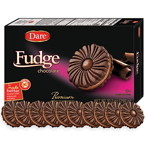 Dare Fudge Chocolate Crème Cookies – Made with Real Chocolate, Peanut Free – 10.2 Ounces (Pack of 12) (Cookies Free Cholesterol Chocolate)