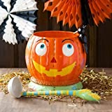 GlitterVille Patches the Pumpkin & Crowie Punch Bowl and 8 Cups 9 Pc. Set