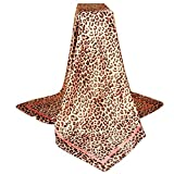 Scarf for Women New Fashion Leopard Print Square Printed Silk Featurestop