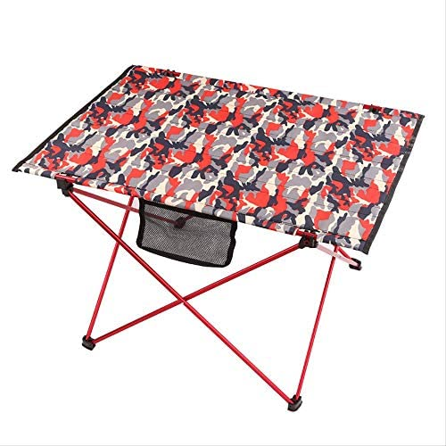 STARKWALL Aluminum Alloy Outdoor Table Folding Portable Compact Table For Outdoor Camping Traveling Hiking Fishing Pinic Red