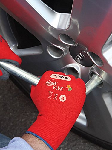 Skytec Ninja Flex guantes de trabajo mano protección nylon ...