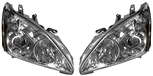 HID Xenon Headlights Headlamps Left & Right Pair Set for 04-06 Lexus RX330 (Lexus Rx330 Headlight Replacement)