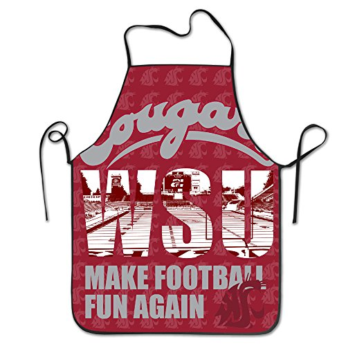 [WASHINGTON STATE COUGARS Make Football Fun Again Kitchen Baking Apron] (Easy To Make At Home Superhero Costumes)