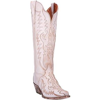 5aff5a5f1e9 Dan Post Womens Bone Cowboy Boots Leather Snip Toe 6 M