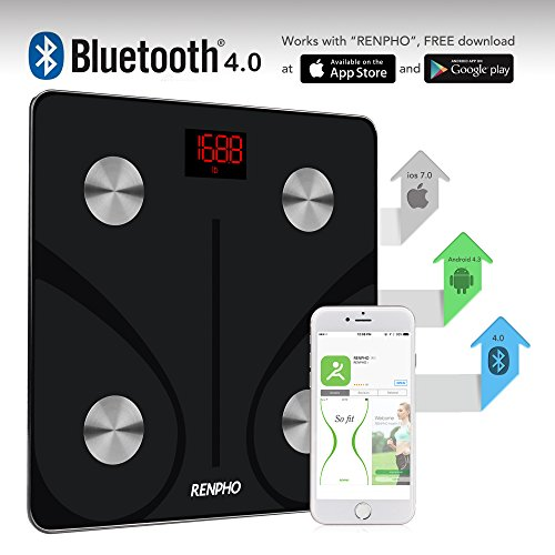 Large Product Image of RENPHO Bluetooth Body Fat Scale - FDA Approved - Smart BMI Scale Digital Bathroom Wireless Weight Scale, Body Composition Analyzer with Smartphone App, 396 lbs