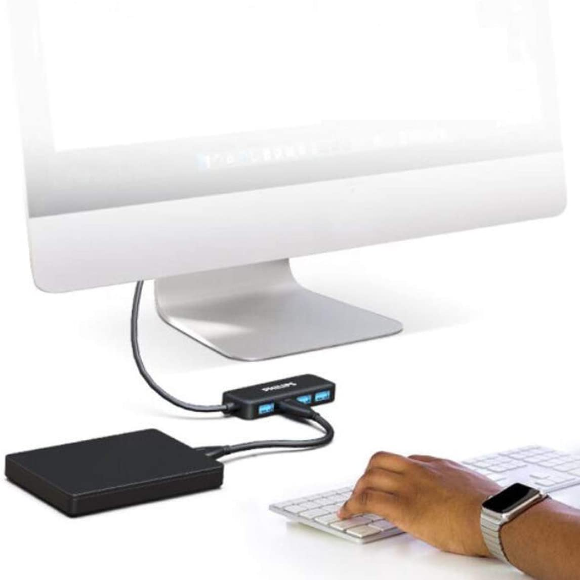 USB Splitter 3.0 High Speed Transmission Hub Hub Color : Black, Size : 0.2 m Line Length 20 cm Scratchproof Youshangshipin Hub