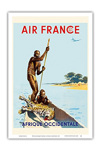 Pacifica Island Art Afrique Occidentale Africa - 2ND COPY - Vintage World Travel Poster by Albert Brenet 1949 - Master Art Print - 12in x 18in