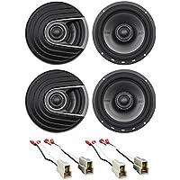 Polk Audio Front+Rear Door 6.5 Speaker Replacement Kit For 2002-2005 Subaru WRX