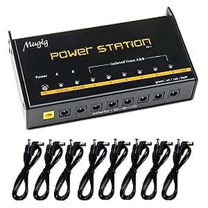 mugig guitar pedal power supply 8 outputs for 9v 12v 18v effect pedal power. Black Bedroom Furniture Sets. Home Design Ideas