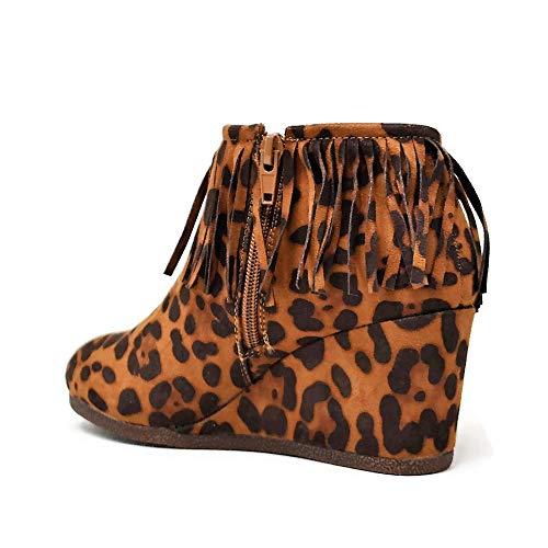 Di color Camoscio Donna Beston Leopard Tan Zeppe Eu Size 36 5 w5qEwtIr