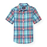 #6: The Children's Place Big Boys' Short Sleeve Plaid Oxford