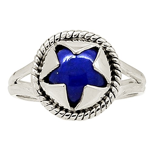 Xtremegems Star - Lapis 925 Sterling Silver Ring Jewelry Size 9.5 ()