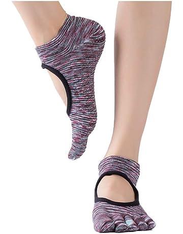 Zhuhaimei,3 pares de calcetines de yoga profesional de agujero de excavación cinco dedos atrás