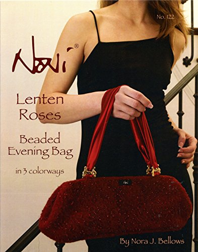 Noni Bags Felted Purse (Noni Knitting & Felting Pattern #122 Lenten Roses Beaded Evening Bag in 3 Colorways)