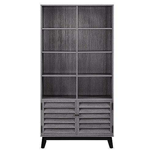 - Ameriwood Home 9549196COM Vaughn Bookcase, Gray Oak