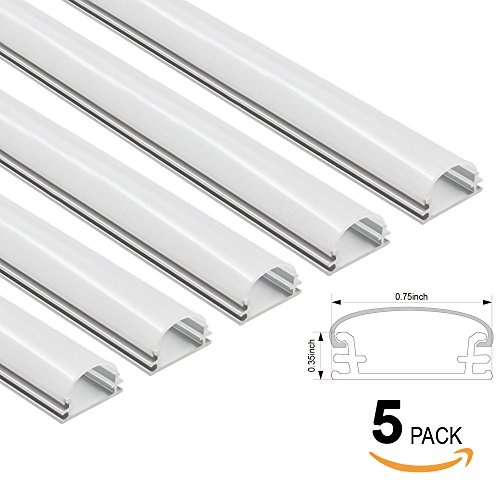 5 PACK Shallow Flush Mount/Recessed Mount Aluminum