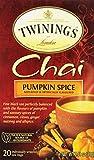 Twinings Chai Tea, Pumpkin Spice, 20 Count